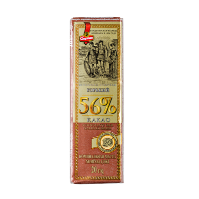 шоколад Спартак Горький 56% 20 г 1 уп*76 шт