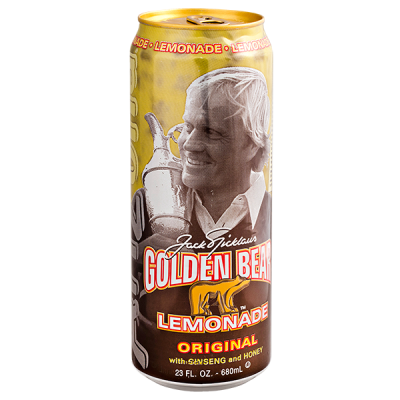 напиток ARIZONA Golden Bear Lemonade with Ginseng & Honey 680 мл  Ж/Б 1 уп.х 24 шт.