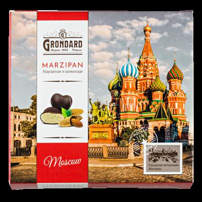 конфеты GRONDARD MOSCOW МАРЦИПАН в шоколаде 52 г 1 уп. х 12 шт.