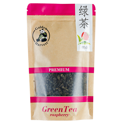 чай GOLDEN HARVEST Premium Green Tea Raspberry 75 гр.