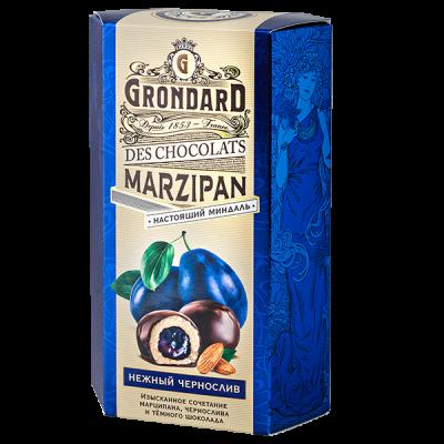 конфеты GRONDARD МАРЦИПАН с черносливом в шок. глазури 140 г 1 уп. х 10 шт.