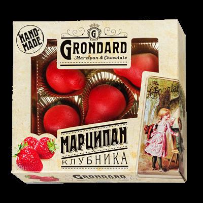 конфеты GRONDARD МАРЦИПАН КЛУБНИКА 100 г 1 уп. х 12 шт.