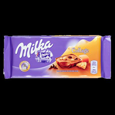 шоколад Милка Collage Caramel  93 г 1уп.х 18 шт.