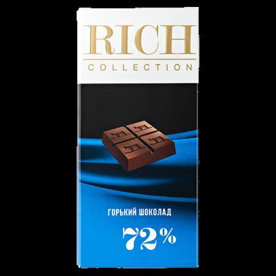 шоколад RICH COLLECTION 72% Горький 70 г 1уп.х 10шт.