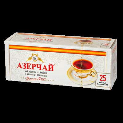 чай АЗЕРЧАЙ Черный с бергамотом 25 пакетиков 1 уп.х 24 шт.
