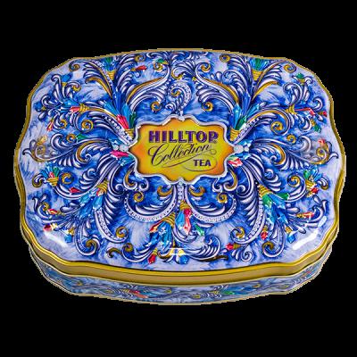чай HILLTOP волнистая банка 'Сверкающие самоцветы' ж/б 100 г 1 уп.х 12 шт.