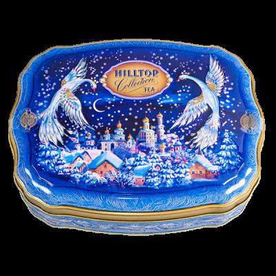 чай HILLTOP волнистая банка 'Волшебная ночь' ж/б 100 г 1 уп.х 12 шт.