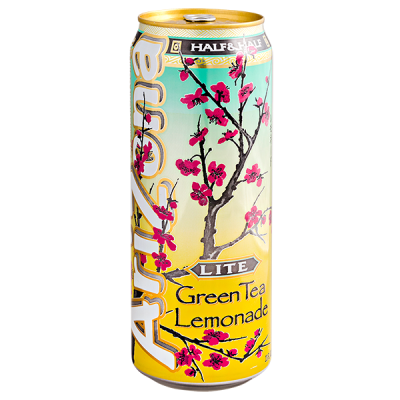 напиток ARIZONA Green Tea Lemonade Lite 680 мл  Ж/Б 1 уп.х 24 шт.
