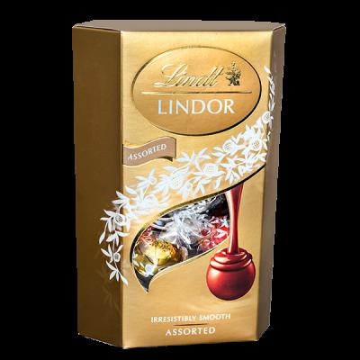 конфеты LINDOR Ассорти с начинкой 200 г 1 уп.х 8 шт.