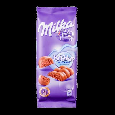 шоколад Милка Баблс  Молочный Пористый  80 г 1уп.х 15шт.