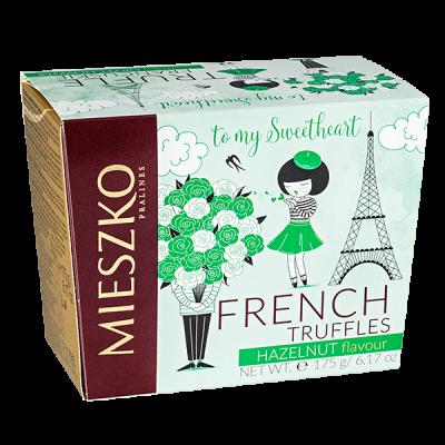 конфеты MIESZKO FRENCH TRUFFLES ВАЛЕНТИН, ВЕСНА cо вкусом ореха 175 г 1 уп. х 16 шт.