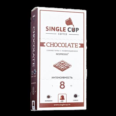 кофе капсулы SINGLE CUP CHOCOLATE 1уп х 10 капсул