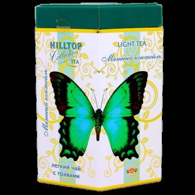 чай HILLTOP в подарочном ромбе 'Мятный коктейль' ж/б 100 гр.