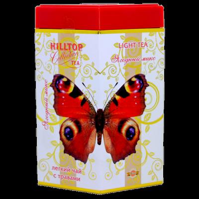 чай HILLTOP в подарочном ромбе 'Ягодный микс' ж/б 100 гр.