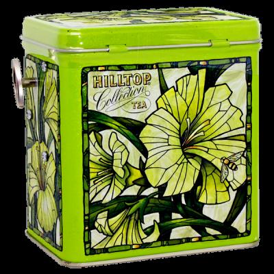 чай HILLTOP в музыкальной шкатулке 'Лилии зеленая симфония' ж/б 125 г 1 уп.х 12 шт.