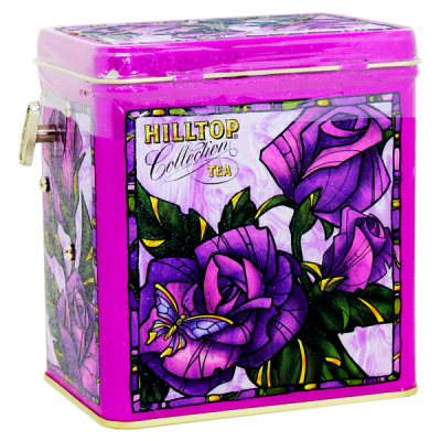 чай HILLTOP в музыкальной шкатулке 'Розы 1001 ночь' ж/б 125 г 1 уп.х 12 шт.