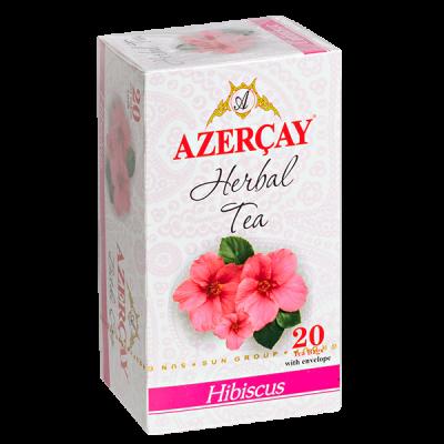 чай АЗЕРЧАЙ Гибискус 20 пакетиков с конвертом 1 уп.х 24 шт.