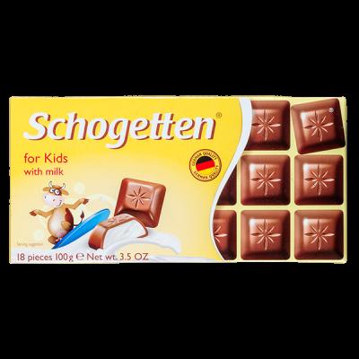 шоколад SCHOGETTEN For Kids With Milk 100 г 1уп. х 15шт.