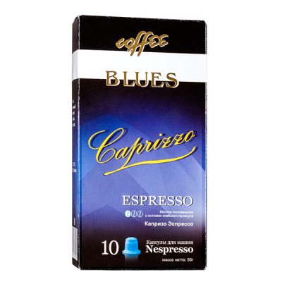 кофе капсулы BLUES CAPRIZZO ESPRESSO 1уп х 10 капсул