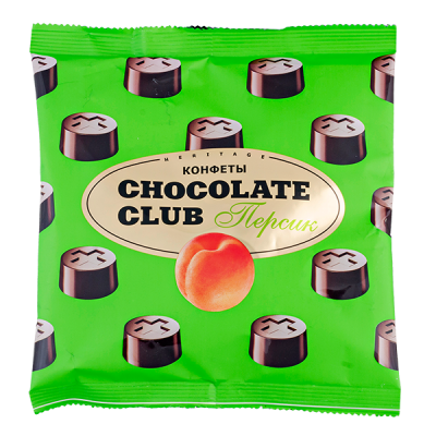 конфеты CHOCOLATE CLUB персик 140 г 1 уп.х 14 шт.