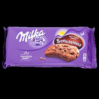 печенье Милка Sensations soft inside choco 156 г 1 уп.х 12 шт.