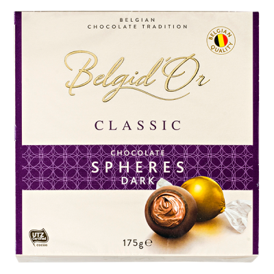 конфеты Belgid 'Or CHOCOLATE SPHERES DARK 175 г 1 уп.х 12 шт.