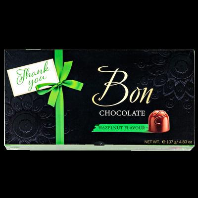 конфеты MIESZKO BON CHOCOLATE HAZELNUT FLAVOUR 137 г 1 уп.х 13 шт.
