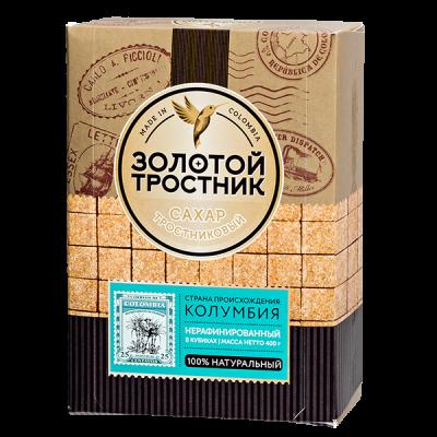 сахар тростниковый в кубиках Золотой Тростник 400 г 1уп.х 16 шт.