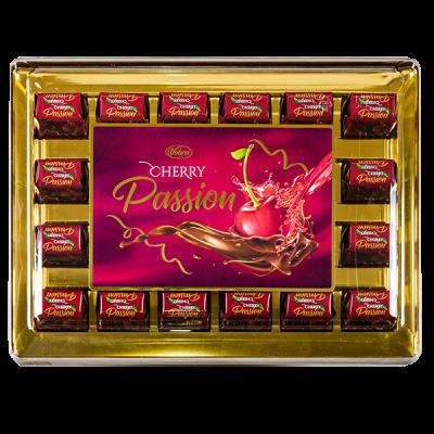 конфеты VOBRO CHERRY PASSION пластик кор. 295 г 1 уп.х 6 шт.