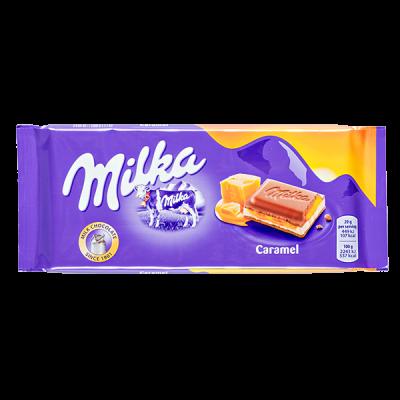 шоколад Милка Caramel 100 г 1уп.х 18 шт.