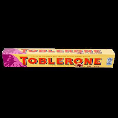 шоколад Тоблерон FRUIT&NUT Молочный с медово-миндальной нугой 100 г 1 уп.х 20 шт.
