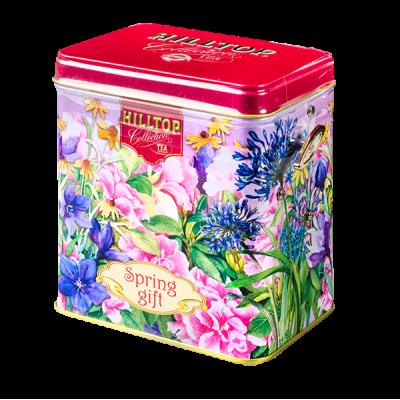 чай HILLTOP в музыкальной шкатулке 'Смородиновый блюз' ж/б 100 г 1 уп.х 12 шт.