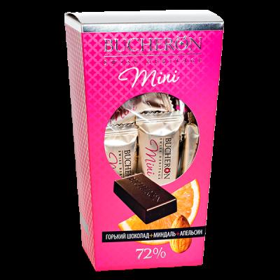 шоколад BUCHERON MINI 72% Миндаль +Апельсин 171гр. 1шт.