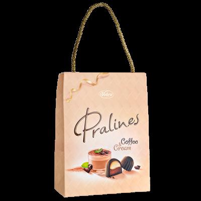 конфеты VOBRO PRALINES COFFEE&CREAM сумочка 197 г 1 уп.х 6 шт.