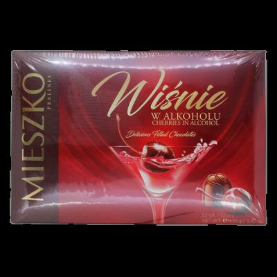 конфеты MIESZKO CHERRIES IN ALCOHOL 155 г 1 уп.х 6 шт.