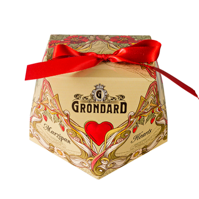 конфеты GRONDARD Сердечки марципановые 60 г 1 уп. х  16 шт.