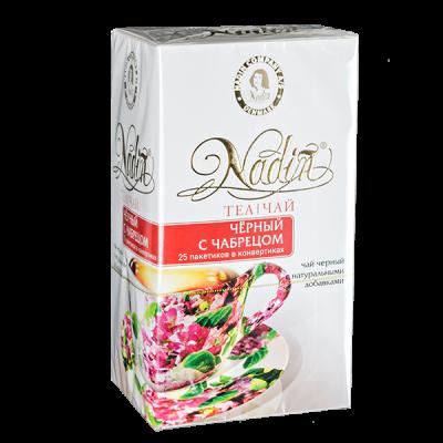 чай NADIN 'Чёрный с Чабрецом' 25 пакетиков 1 уп.х 12 шт.