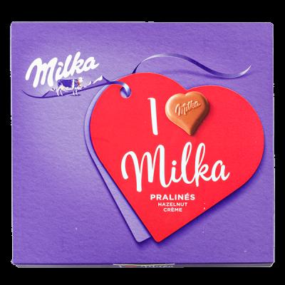 конфеты Милка I LOVE Milka ореховый крем 110 г 1 уп.х 10 шт.