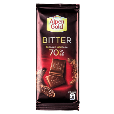 шоколад Альпен Гольд Биттер горький 70% 85 г 1 уп.х 21 шт.