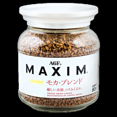 кофе AGF MAXIM МОКА растворимый 80 г ст/б