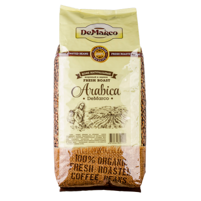 кофе DeMARCO ARABICA 1кг зерно 1 уп.х 8 шт.