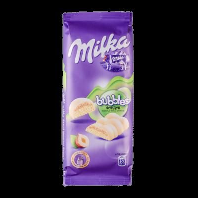шоколад Милка Баблс Белый Пористый с Фундуком  83 г 1уп.х 15шт.
