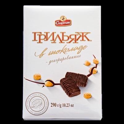 конфеты Грильяж в Шоколаде 290 г 1уп.х 8шт.