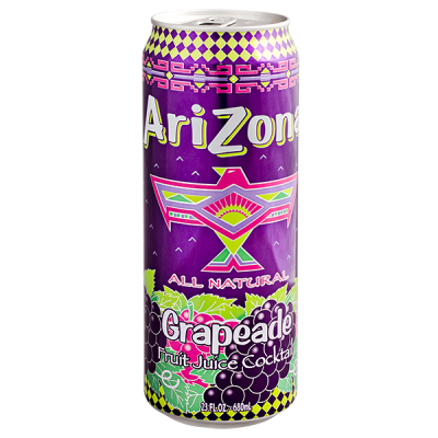 напиток ARIZONA Grapeade 680 мл  Ж/Б 1 уп.х 24 шт.