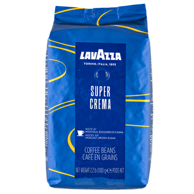 кофе LAVAZZA SUPER CREMA 1 кг зерно 1 уп.х 6 шт.