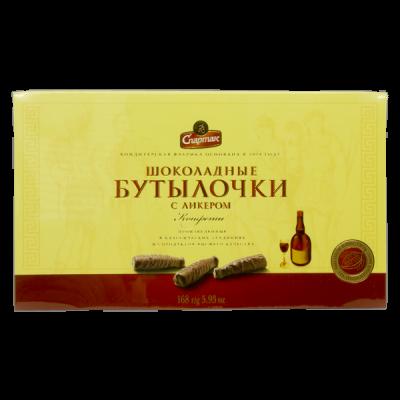 конфеты Шоколадные Бутылочки с Ликером 168 г Спартак