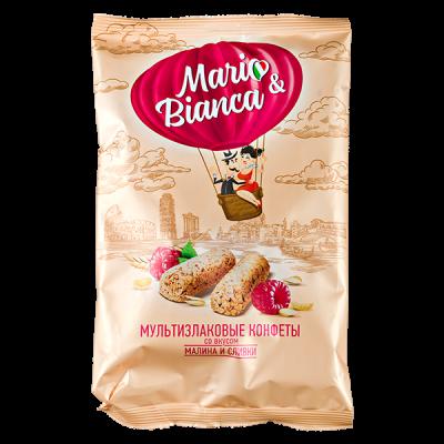 конфеты MARIO&BIANCA Мультизлаковые со вкусом Малина и Сливки 138 г 1 уп. х 8 шт.