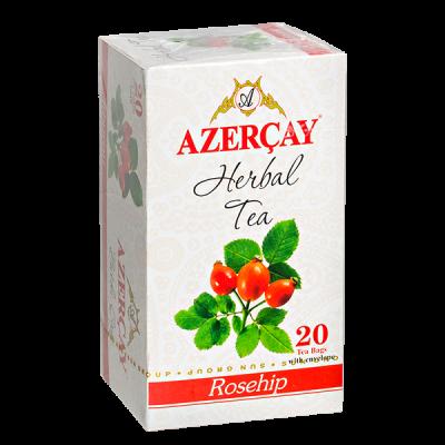 чай АЗЕРЧАЙ Шиповник 20 пакетиков с конвертом 1 уп.х 24 шт.