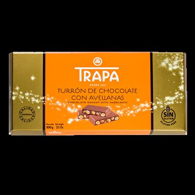 шоколад TRAPA TURRON Молочный c цельным фундуком 200 г 1уп.х 12 шт.