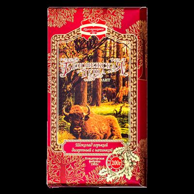 Шоколад Коммунарка Беловежская Пуща Горький Десертный с начинкой 200 г 1 уп.х 17 шт.